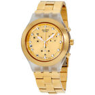 Swatch Irony Full-Blooded Gold Dial Stainless Steel Unisex Watch SVCK4032G