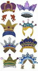 FUN CROWNS Hats Prince Jolees Le Grande Scrapbook Craft Sticker