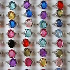 30pcs wholesale jewelry lots Colorful silver plated rings jewelry Gift New
