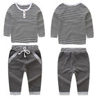 2PCS Kids Baby Toddler Boy Clothes Set T shirt Tops Pants Leggings Outfits