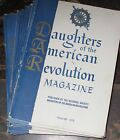 DAR Daughters of American Revolution 16 magazines 1955 1956 genealogy