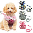 Mesh Padded Dog Harness  Leash Pet Puppy Vest for Dogs XS S M Chihuahua  Bell