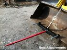 Hay Bale Spear Attachment Front Loader  Skid Steer Bucket With 1x39 Prong