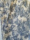 Waverly Garden Toile Curtain Panel White Blue Floral 42