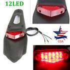 Universal Motorcycle Red 12LED Enduro Fender Lamp Stop Brake Light Tail light US