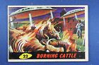 1962 Topps Bubbles - Mars Attacks - #22 Burning Cattle - Very Good Condition