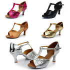 Womens 7cm Classic Tango High Heels Ballroom Latin Salsa Dacing Heels Shoes New