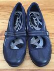 SKECHERS Shoes Womens SZ 7 Mary Jane Sneakers Speedsters Navy Silver 21094