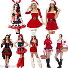 New Miss Santa Cgristmas Festival Costumes Fancy Dress Satin Claus Outfits Party