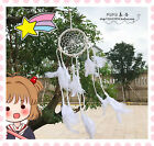 Cartoon Anime Lovely Cute White Feather Dreamcatcher Home Decoration Pedant Gift