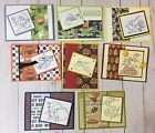 8 Fluffles HalloweenThanksgiving Cards Stampin Up + Combined Shipping