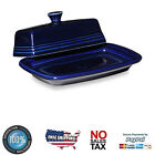 Fiesta Extra Large Covered Butter Dish in Cobalt Blue with Durable Ceramic