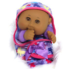 RARE LIMITED EDITION 2016 Dark Skin Cabbage Patch Kids Lil Swaddlers Style 4