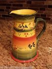 New LA PROVINCE 80 oz Serving Pitcher Tabletops Gallery Hand Painted