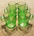 Vintage Lot of 6 Anchor Hocking Green Glass 8oz/1 Cup Measuring Cups