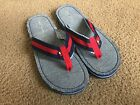 Tommy Hilfiger Women Red Blue Stripe Flip Flop Sandals size 4 5