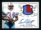 2014 National Treasures Football Signed Earl Campbell Auto 3 Patch Autograph
