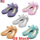 Girls Kids Toddler Kids Princess Clear Jelly Glitter Shoes Crystal Sandals Party