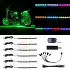 6pcs RGB Multi Color LED Knight Rider Ground Effect Light Kit For Motorcycle