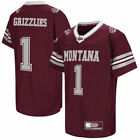 Colosseum Montana Grizzlies Youth Maroon Hail Mary II Football Jersey College