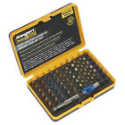 Sealey S01037 Colour-Coded S2 Power Tool Bit Set ( 62-Piece)