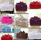 6Pc Egyptian Cotton Bath Towel Bale Set Matching Hand Face Washable Cloth