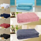 Set of 2 Matching Soft Egyptian Two Plain Cotton Bath Towel 500g Bale Pair