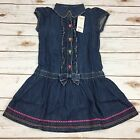 Gymboree dress Butterfly Girl size 6 blue denim jean collared ruffled New NWT