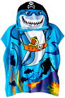 Kids Hooded Beach Towel,Pirates Bath Towel with Ponchu Hood,For Pool Water Fun