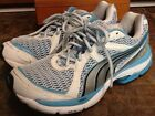 PUMA COMPLETE VECTANA WOMENS BLUE SILVER ATHLETIC RUNNING SHOES SIZE 10