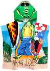 Kids Hooded Beach Towel,Bath Towel Alligator with Ponchu Hood,For Pool Water Fun