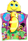 Kids Hooded Beach Towel,Bath Towel BumbleBee with Ponchu Hood,For Pool Water Fun