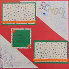 12X12 SCHOOL BOY GIRL PREMADE SCRAPBOOK PAGE LAYOUT MSND TONYA