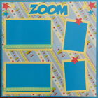 12X12 ZOOM LITTLE BOY PREMADE SCRAPBOOK PAGE LAYOUT MSND TONYA