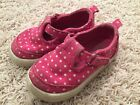 Faded Glory Toddler Girl Tennis Shoes Pink Polka Dots Size 5