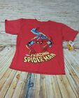 Spider Man Boys S S Graphic Red T Shirt Marvel Comics Tee Size Small S NWT