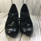 Indigo By Clarks Jungle Java Black Pumps W Tie Size 7M