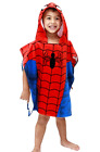 Kids Hooded Beach Towel,Marvel Spiderman Bath Towel Ponchu Hood - Pool Water Fun