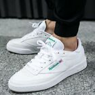 Mens Reebok Classic Club C 85 Originals Sneakers New All White ar0456