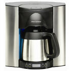 Silver Stainless Steel 10-Cup Programmable Commercial Self-filling Coffee Maker