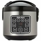 Rice Cooker 8Cup Cooked Digital Steamer Cool Touch Food Exterior Stainless Steel