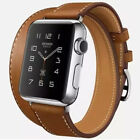 New Cow Leather Replacement Link Bracelet Watch Band Strap for Apple watch