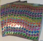 Sandylion stars hearts music notesStickers lot of 5 SHEETS 4 X 6