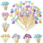 10 30pc Love Heart Birthday Cupcake Toppers Party Baby Shower Wedding Cake Decor