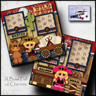 WILD WEST boy girl 2 premade scrapbook pages printed paper piecing BY CHERRY
