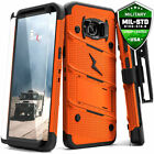 Galaxy Note 8 S8 S8 Plus Case Zizo Bolt w Screen Protector and Holster