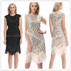 USA 1920s 30s Flapper Vintage Great Gatsby Charleston Sequin Dress Party Costume