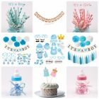 Baby Shower Party Supply Hanging Decor Its a Boy Girl Banner Set Paper Straws