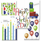 CroninCards Birthday Note Card Assortment box of 30 note cards+32 env