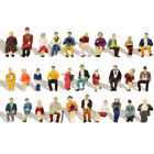 60pcs HO scale 187 All Seated People Sitting Figures Passengers Model P8716